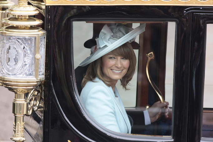 Carole Middleton Leaves Westminster Abbey Coach