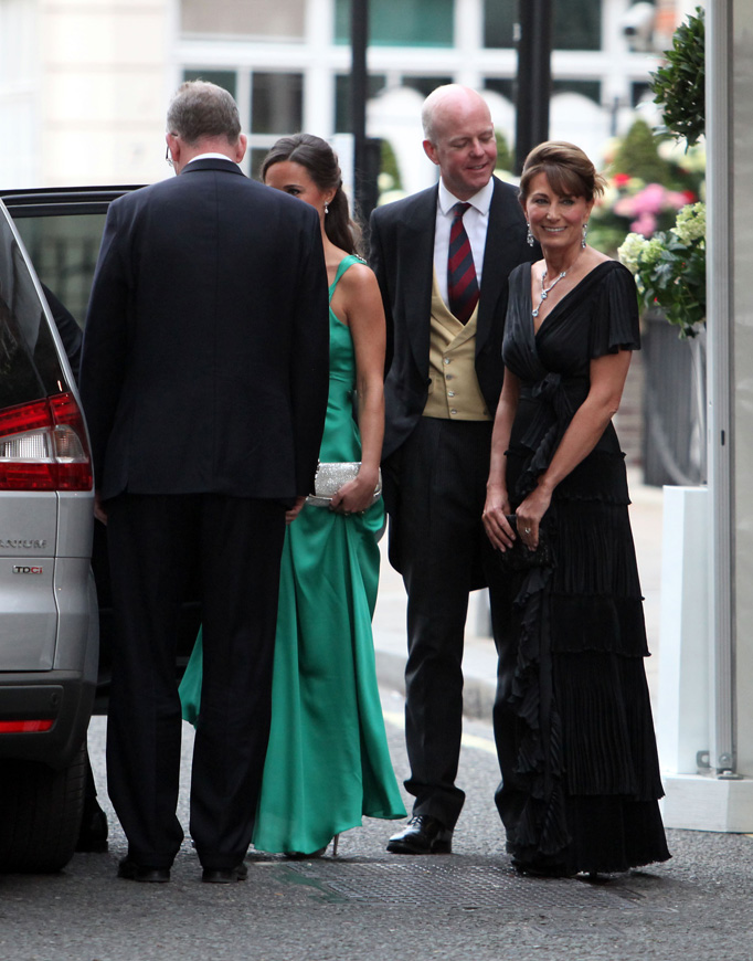 Pippa Middleton Green Temperley Dress Carole Middleton Goring Hotel Royal Wedding