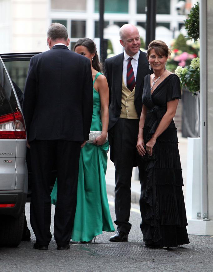 Pippa Middleton Green Temperley Dress Carole Middleton Goring Hotel Royal Wedding