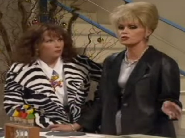 Edian Zebra Coat Patsy Absolutely Fabulous