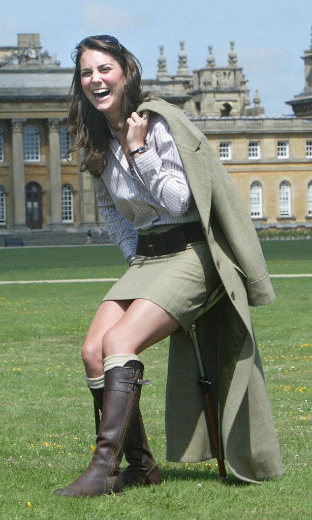 kate middleton laughes poses game fair blenheim palace