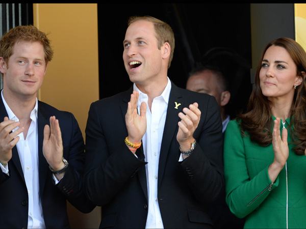 Prince Harry Prince William Kate Middleton Green Coat Harrogate Tour de France