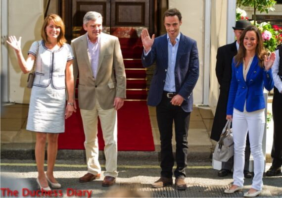 michael middleton carole middleton james middleton pippa middleton leave goring hotel day after royal wedding