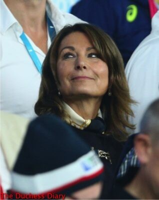 carole middleton looks up rugby world cup 2015