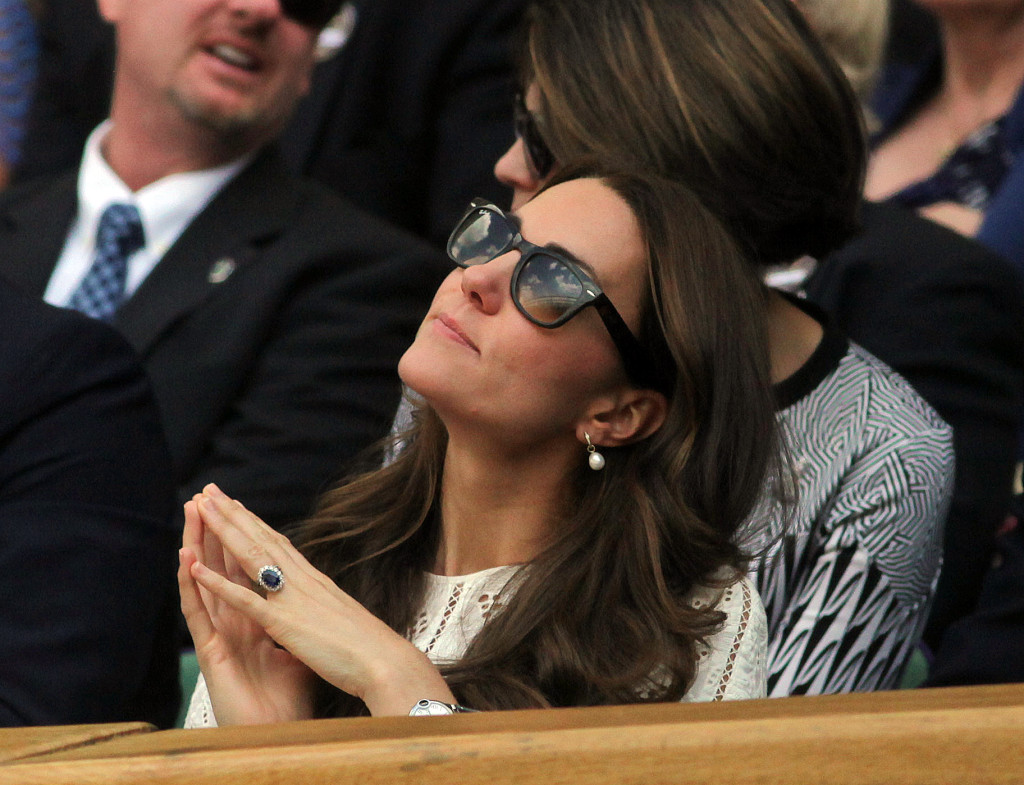 Kate Middleton Zimmerman Eyelit Dress Wimbledon Championships 2014