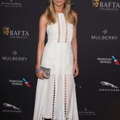 Cressida Bonas Mulberry Dress BAFTA Tea Party 2015