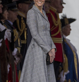 Kate Middleton Alexander Mcqueen Glen Plaid Coat Singapore State Visit