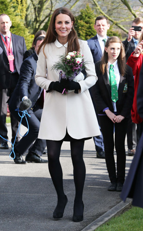 Kate Middleton Goat Coat Child Bereavement UK Visit