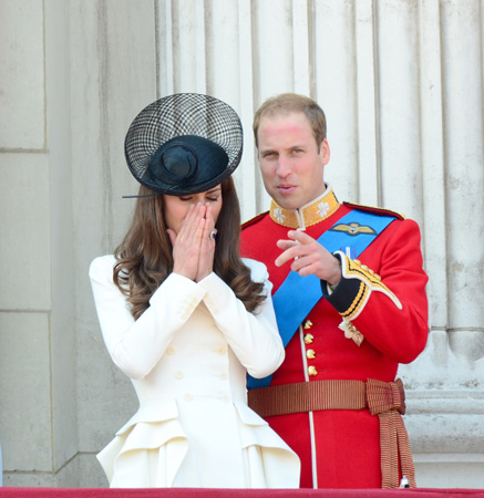 Kate Middleton White Alexander McQueen Coat Trooping The Colour 2011