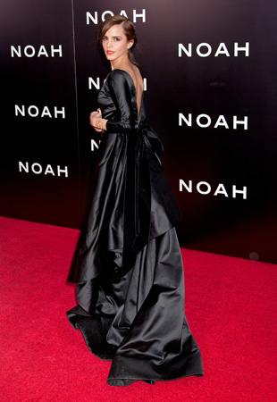 Emma Watson Oscar De La Renta Gown  NYC Premiere Noah