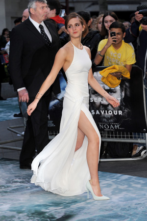Emma Watson White Ralph Lauren Dress UK Premiere Noah London