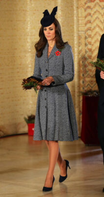 Kate Middleton Michael Kors Coat Australian War Memorial