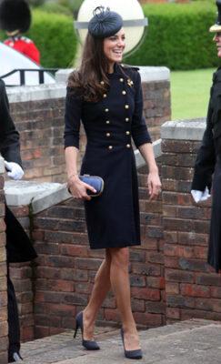 Kate Middleton Alexander McQueen Coat Victoria Barracks