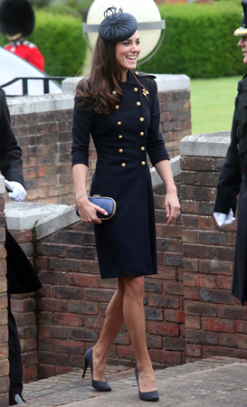 Kate Middleton Alexander McQueen Coat Victoria Barracks