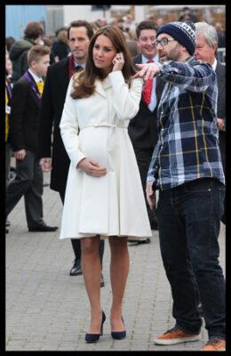 Kate Middleton Max Mara Coat Ben Ainslie Racing HQ Portsmouth