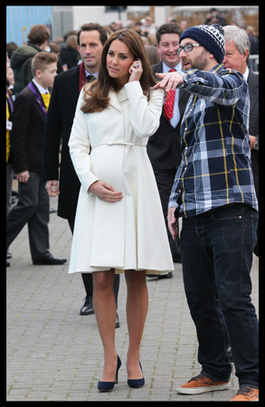 Kate Middleton Max Mara Coat Ben Ainslie Racing HQ Portsmouth