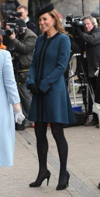 Kate Middleton Malene Birger Coat Baker Street Tube Station
