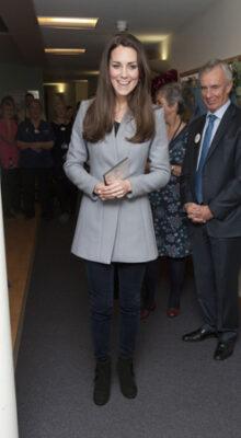Kate Middleton Reiss Blue Coat Shooting Star Hospice Visit