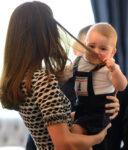 Prince George Grabs Kate Middleton Hair Plunket Date