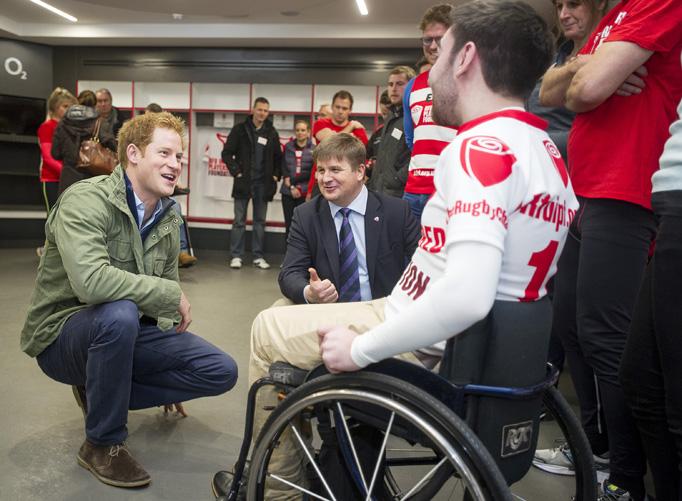 Prince Harry Green Jacket RFU Injured Players Foundation