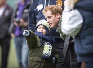 Prince Harry Chats With Small Boy Injured Players Foundation Twickenham Stadium