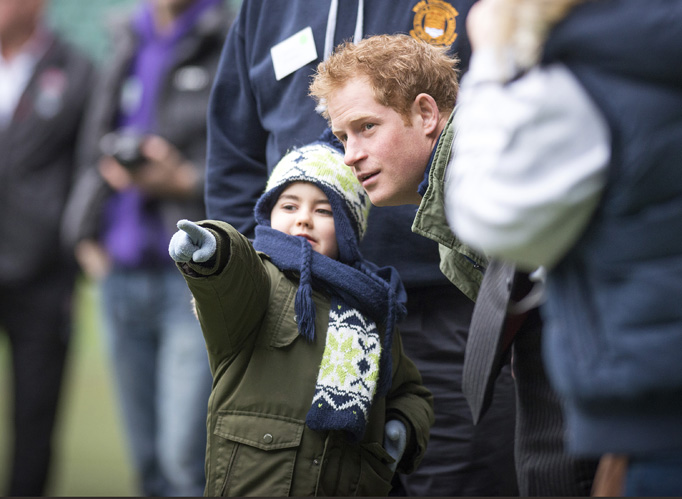 Prince Harry Chats With Small Boy Injured Players Foundation Twickenham Stadium