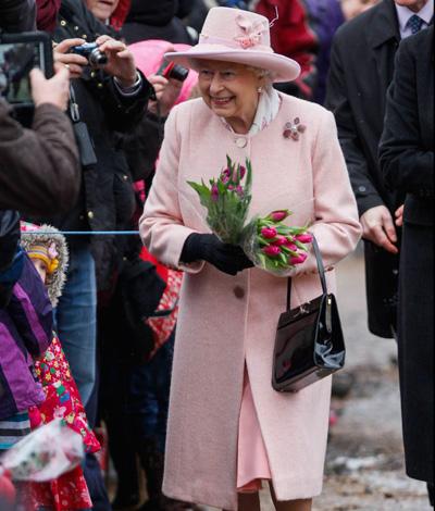 Queen Elizabeth Pink Coat Church Norfolk