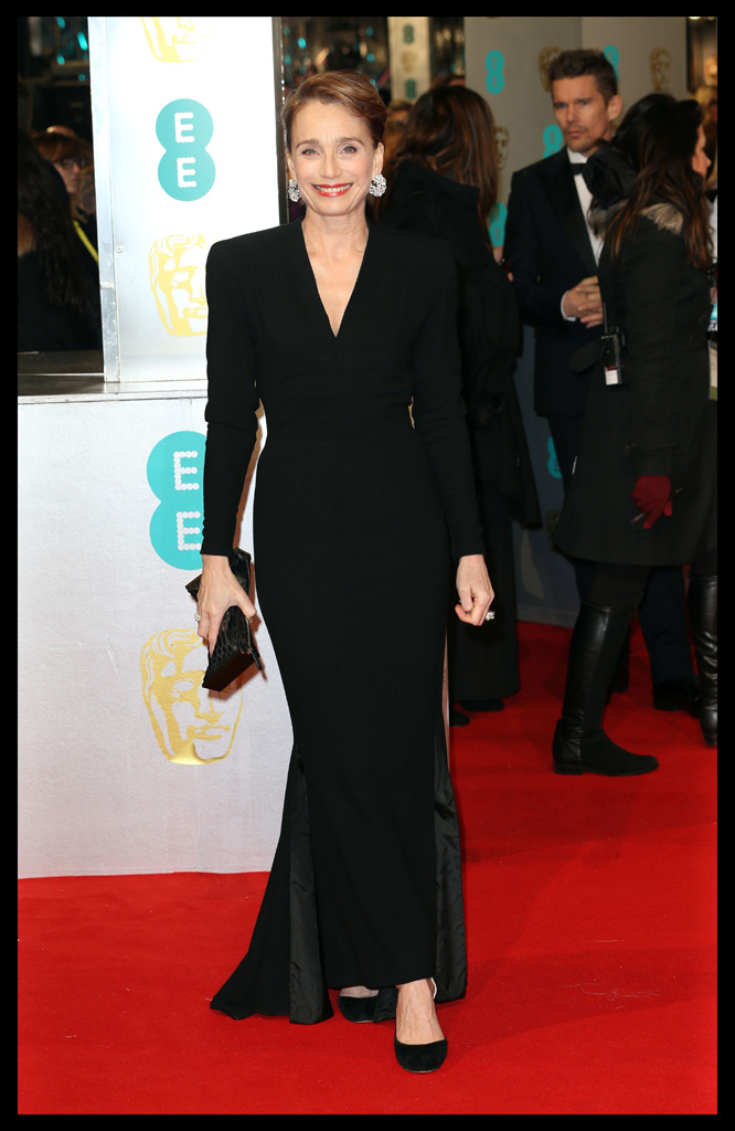Kristin Scott Thomas Balmain Dress BAFTA 2015