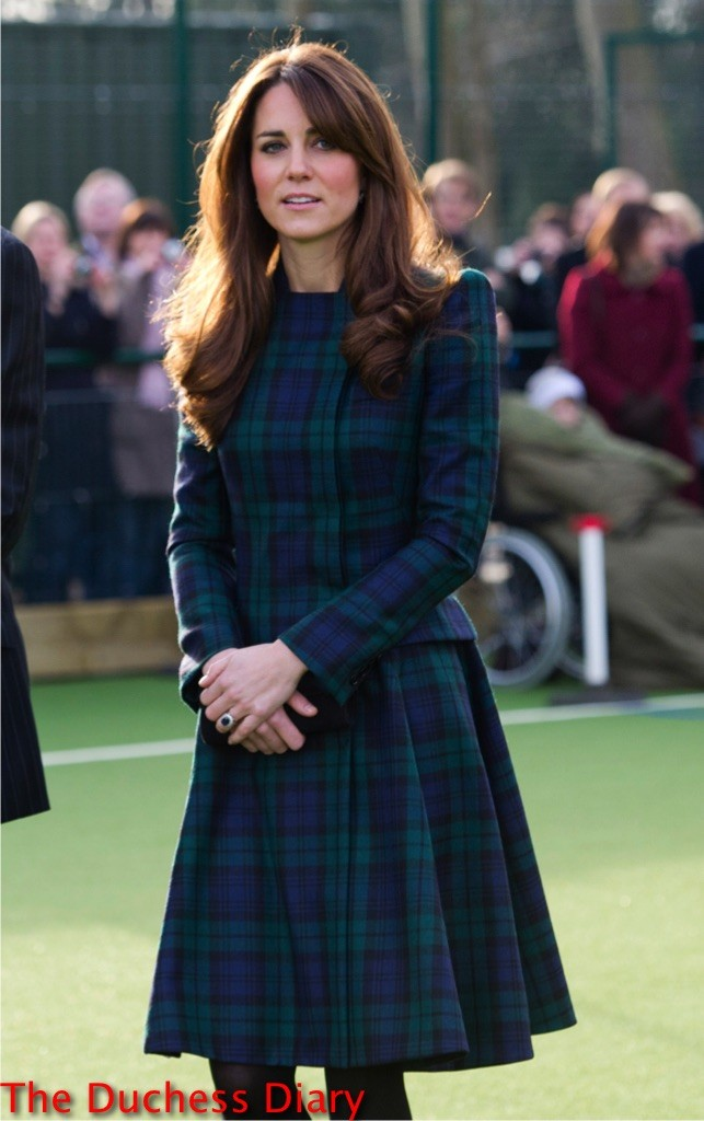 kate middleton black watch tartan st. john's primary school