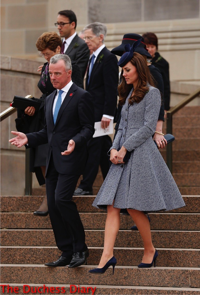 kate middleton michael kors coat anzac day