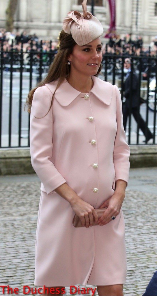 kate middleton pink alexander mcqueen coat commonwealth observance day 2015