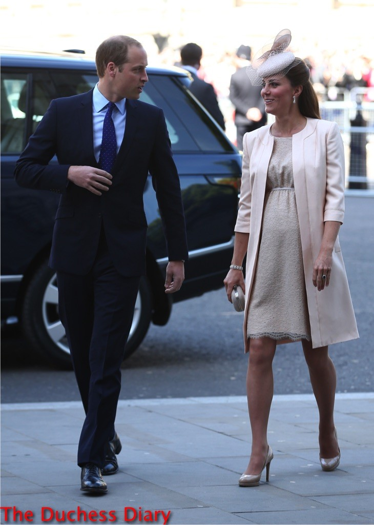 prince william suit kate middleton jenny packham coronation service
