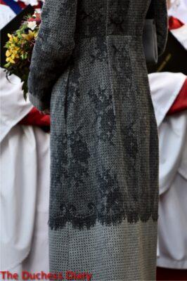 kate middleton detail erdem grey coat 2016 commonwealth observance day