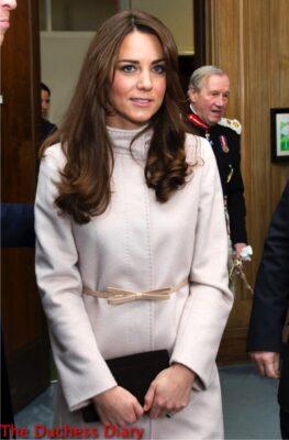 kate middleton maxmara coat guildhall cambridge uk