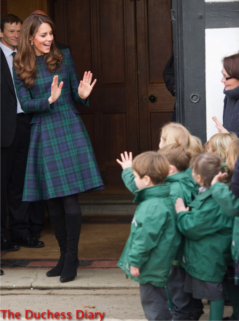 duchess cambridge black what tartan st. andrew's primary school