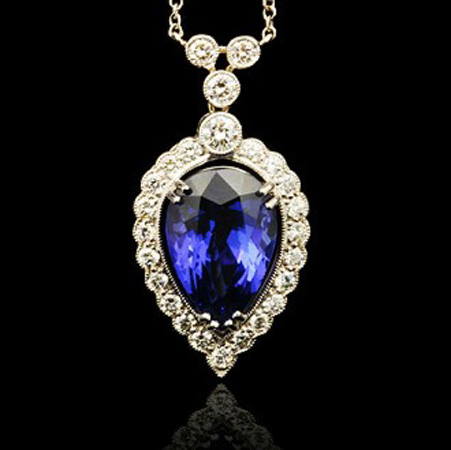 Tanzanite Sapphire Necklace Kate Middleton