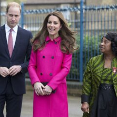 Kate Middleton Pink Mulberry Coat Stephen Lawrence Center March 2015