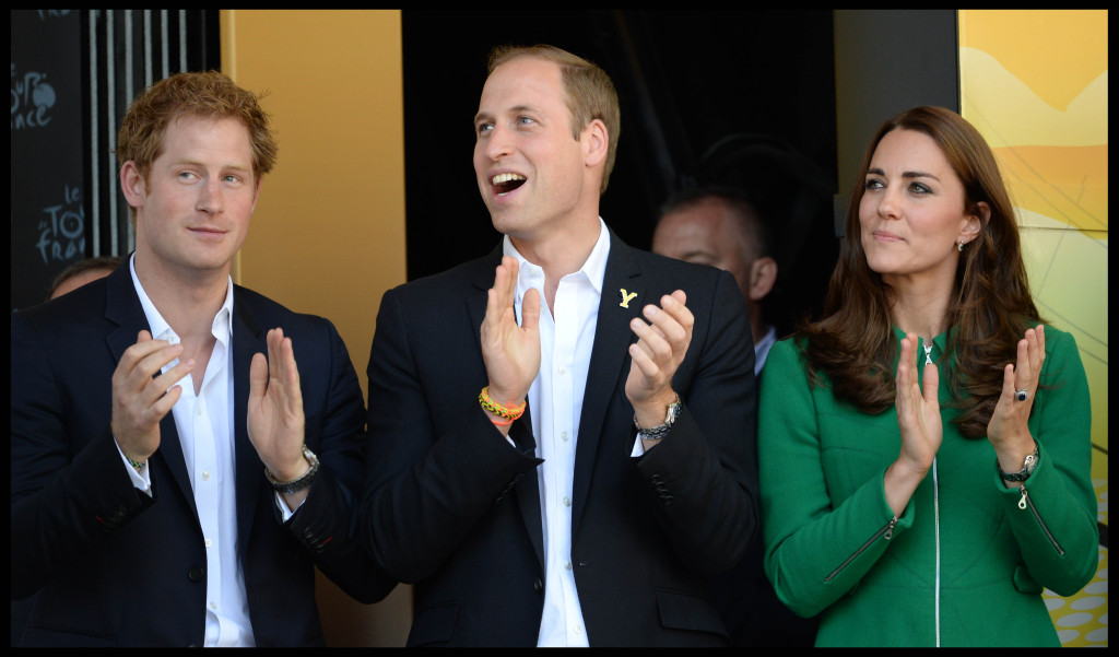 Prince harry Prince William Kate MIddleton Tour De France 2015
