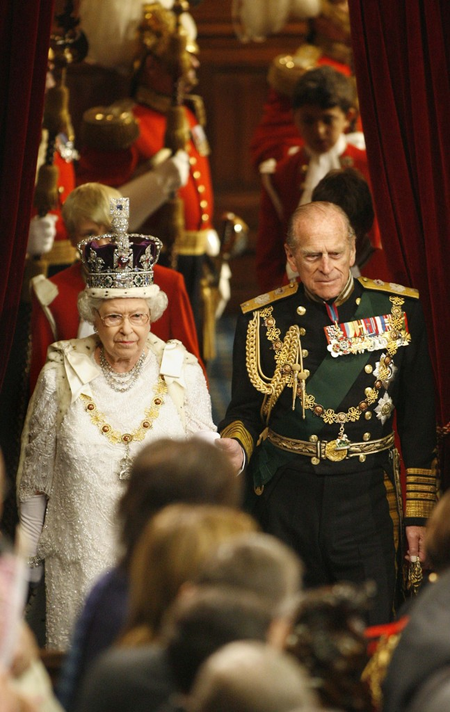 Prince Philip Escorts Queen State Opening Parliament