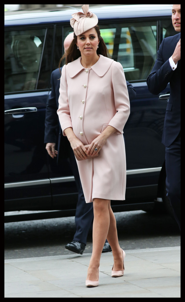 Kate Middleton Alexander McQueen Pink Coat Commonwealth Observance