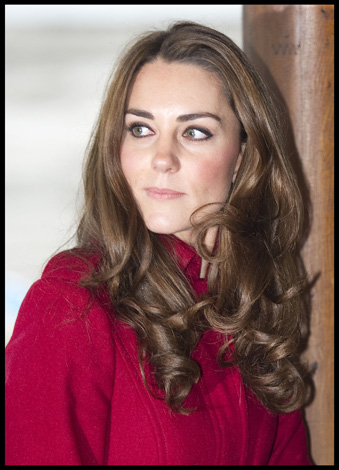 Kate Middleton Red LK Bennett Coat UNICEF Copenhagen
