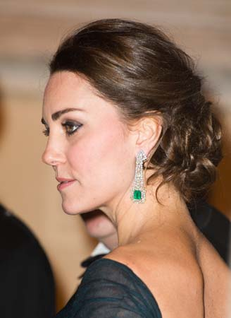 Kate Middleton Jenny Packham Ink Blue Gown Met New York City