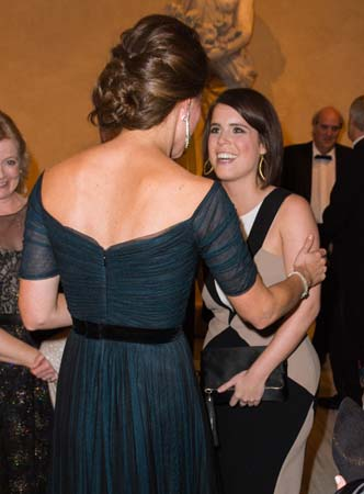 Kate Middleton Greets Princess Eugenie Met New York