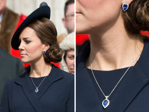 Let S Get A Good Look At Kate Middleton S New Blue Jewels
