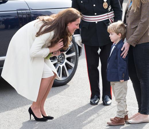 Kate Middleton Speaks To Young Boy Downton Abbey Set