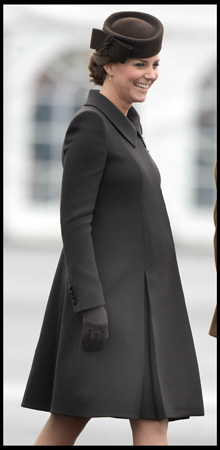 Kate Middleton Catherine Walker Coat Pregnant St. Patrick's Day 2015