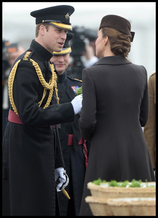 Prince William Kate Middleton Visit Mons Barracks St Patrick's Day 2015