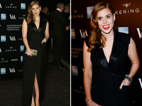 Princess Beatrice Alexander McQueen Savage Beauty Exhibit London