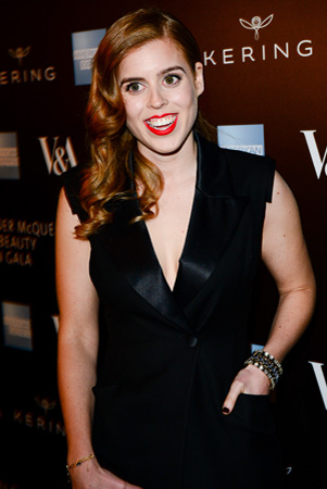 Princess Beatrice Close Up Red Lipstick Alexander McQueen Savage Beauty Exhibit