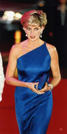 Princess Diana Blue Versace Gown Sydney Entertainment Centre